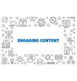 engaging content concept simple outline vector image
