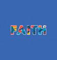 faith concept word art vector image vector image