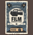 film production cinema or movie industry vector image vector image