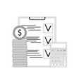 financial audit and verification vector image vector image