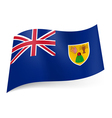 Flag of Turks and Caicos Islands vector image vector image