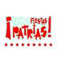 flat fiestas patrias design card with text fiestas vector image