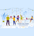 food delivery for girls hen-party online service vector image vector image