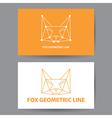 Fox geometric line vector image