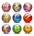 glass balls set vector image vector image