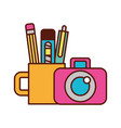 graphic design photographic camera and supplies vector image vector image
