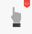 Hand with pointing finger icon Flat design gray vector image vector image