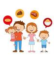 happy family vector image