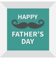 Happy fathers day Picture in square frame vector image vector image