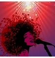 Head of Woman with Hair as Musical Symbols vector image vector image