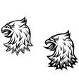 Heraldic eagle head vector image vector image