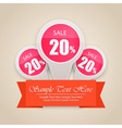 Hot Sale Tag Background vector image vector image