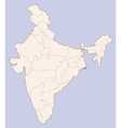 India contour map vector image vector image