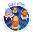 Isometric aliens composition