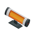 Isometric Halogen or Infrared heater Home Heating vector image