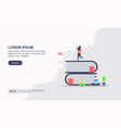 landing page template online education modern vector image