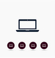 laptop icon simple sign vector image vector image