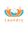 laundry logo design vector image vector image