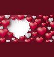 love concept design of heart on red background vector image vector image