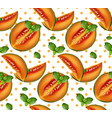 melon pattern summer fruits retro vector image vector image