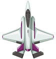 Modern design of fighting jet vector image vector image