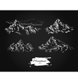 mountains drawing set Hand drawn mountains vector image