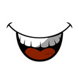 mouth laughing cartoon vector image vector image
