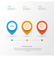network icons set collection of glance landscape vector image vector image