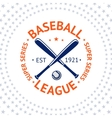 Old style Baseball Label with ball and bats vector image vector image