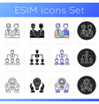 organization structure icons set vector image vector image