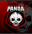 panda mascot logo esport vector image vector image