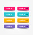 read more colorful flat line 3d button set vector image