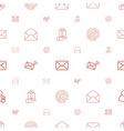 receive icons pattern seamless white background vector image vector image