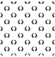 round wreath pattern seamless vector image vector image