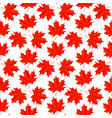seamless background with colorful red maple leaves vector image vector image