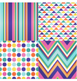 Seamless stripes zigzag and polka dots background