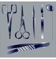Set medical instruments vector image vector image