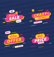 set multicolored sale promotion labels vector image