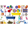 set of kids toy vector image