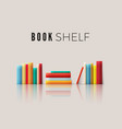 stack books with reflection books spine in vector image