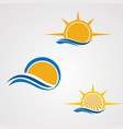 sun element set logo icon element and template vector image