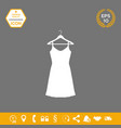 sundress evening dress combination or nightie on vector image