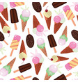 sweet ice cream collection repeat seamless pattern vector image vector image