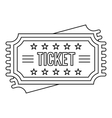 Ticket icon outline style vector image