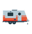travel trailer mobile home for summer adventures vector image vector image