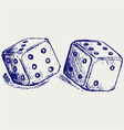 Two dices vector | Price: 1 Credit (USD $1)