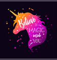 unicorn head silhouette vector image vector image