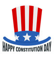 usa hat constitution day logo icon flat style vector image vector image