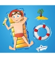 Water fun - boy vector image vector image