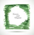 watercolor green frame vector image vector image